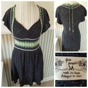 Free People Sweetheart Knit Sweater Dress Medium